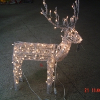 "48"" 3D PVC animated standing buck with CUL 150Lights"